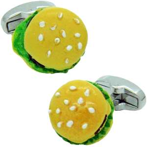 Burger Cufflinks from Cuffs & Co