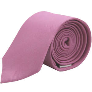 Light Pink Narrow Woven Silk Tie from Cuffs & Co