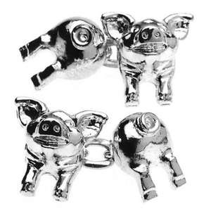 Pig Chain Link Cufflinks from Cuffs & Co