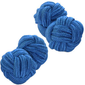 Blue Silk Knot Cufflinks from Cuffs & Co