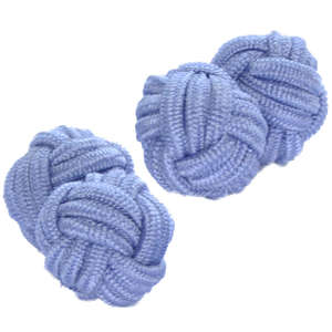 Lilac Silk Knot Cufflinks from Cuffs & Co