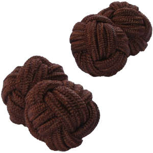 Brown Knot Cufflinks from Cuffs & Co