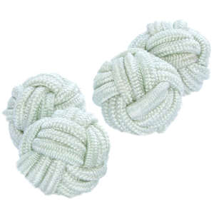 Apple White Knot Cufflinks from Cuffs & Co
