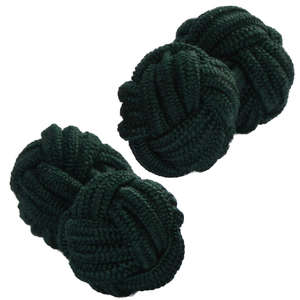Hunter Green Knot Cufflinks from Cuffs & Co