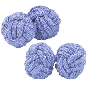 Lavendar Silk Knot Cufflinks from Cuffs & Co