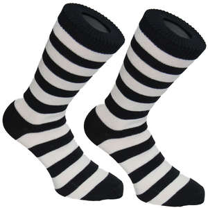 Black and White Stripy Socks | SOCK CLUB® from Cuffs & Co