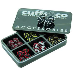 Liquorice Twist Silk Knot Cufflink Set from Cuffs & Co