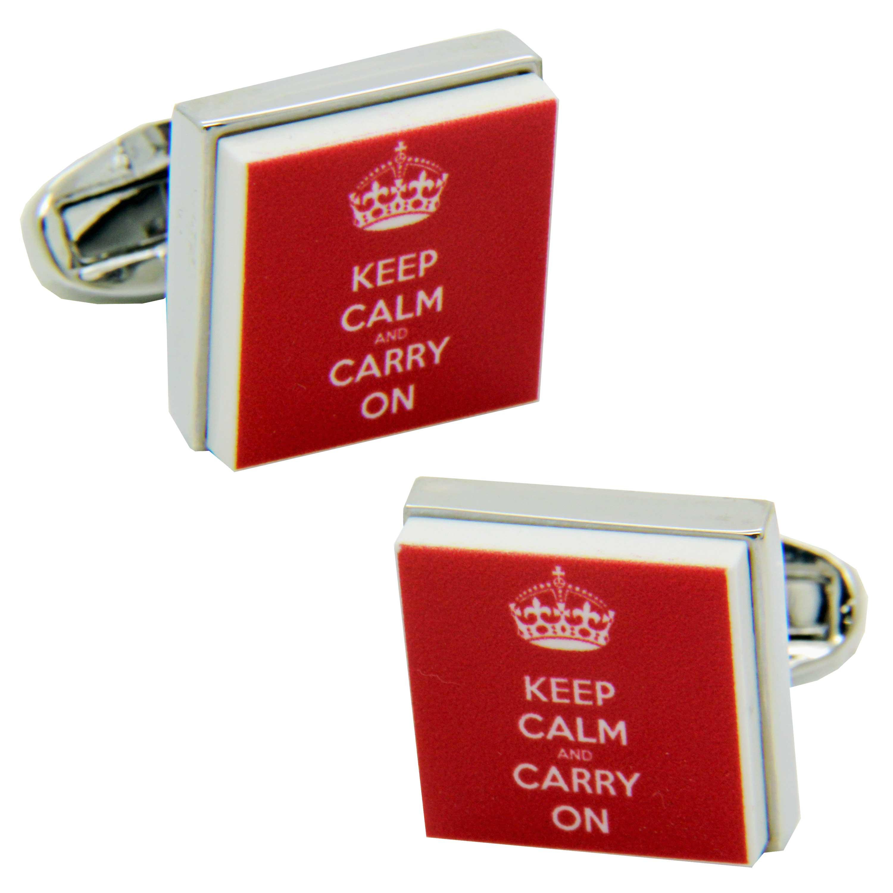 Keep Calm & Carry On Cufflinks from Cuffs & Co