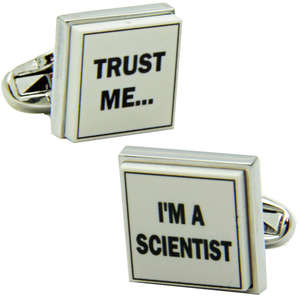 Trust Me I'm a Scientist Cufflinks from Cuffs & Co