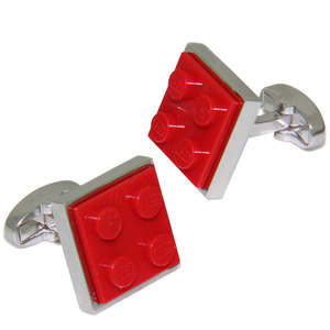 Red LEGO® Brick Cufflinks from Cuffs & Co