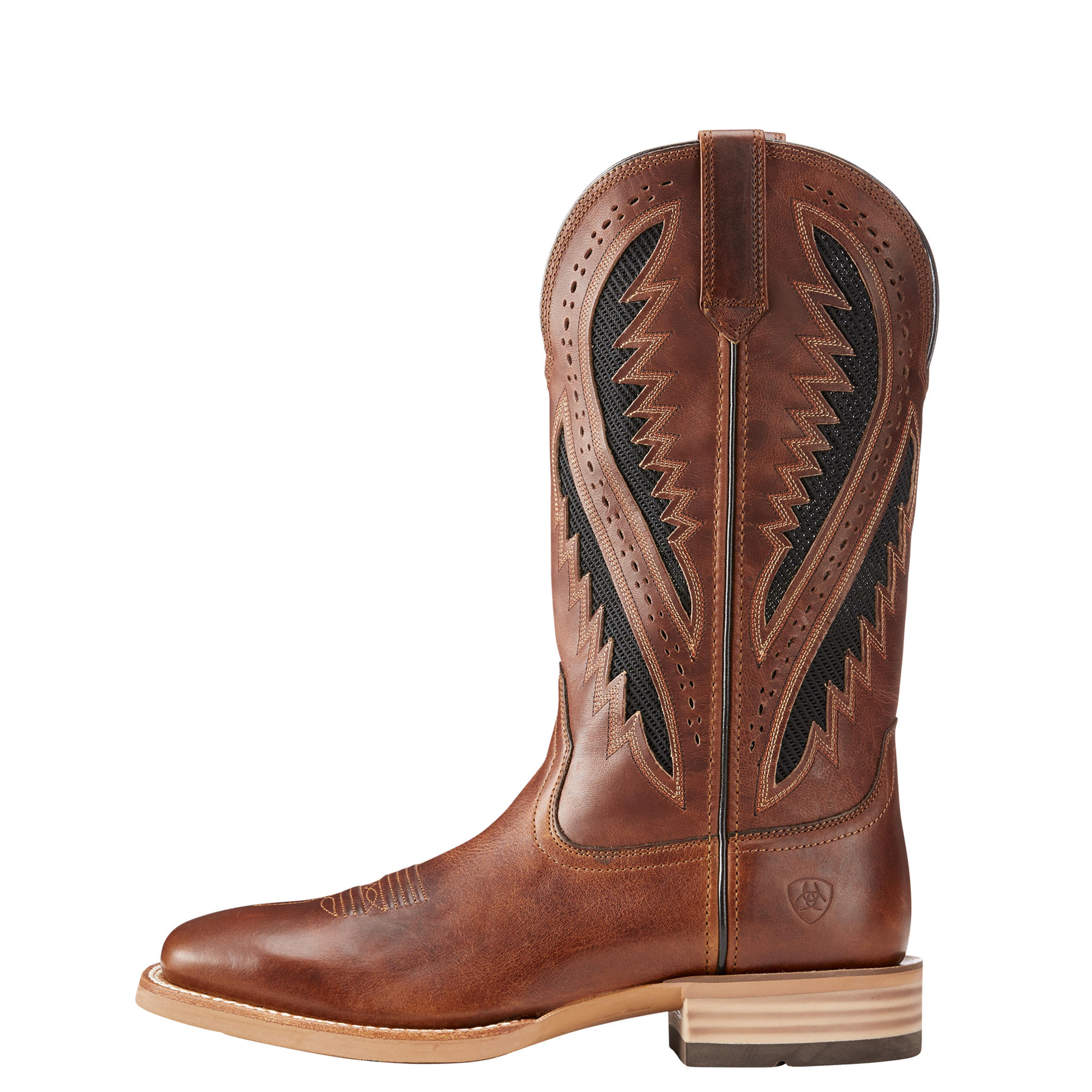 Mens cowboy western riding,fashion boot QUICKDRAW VentTEK # 10023218 side view