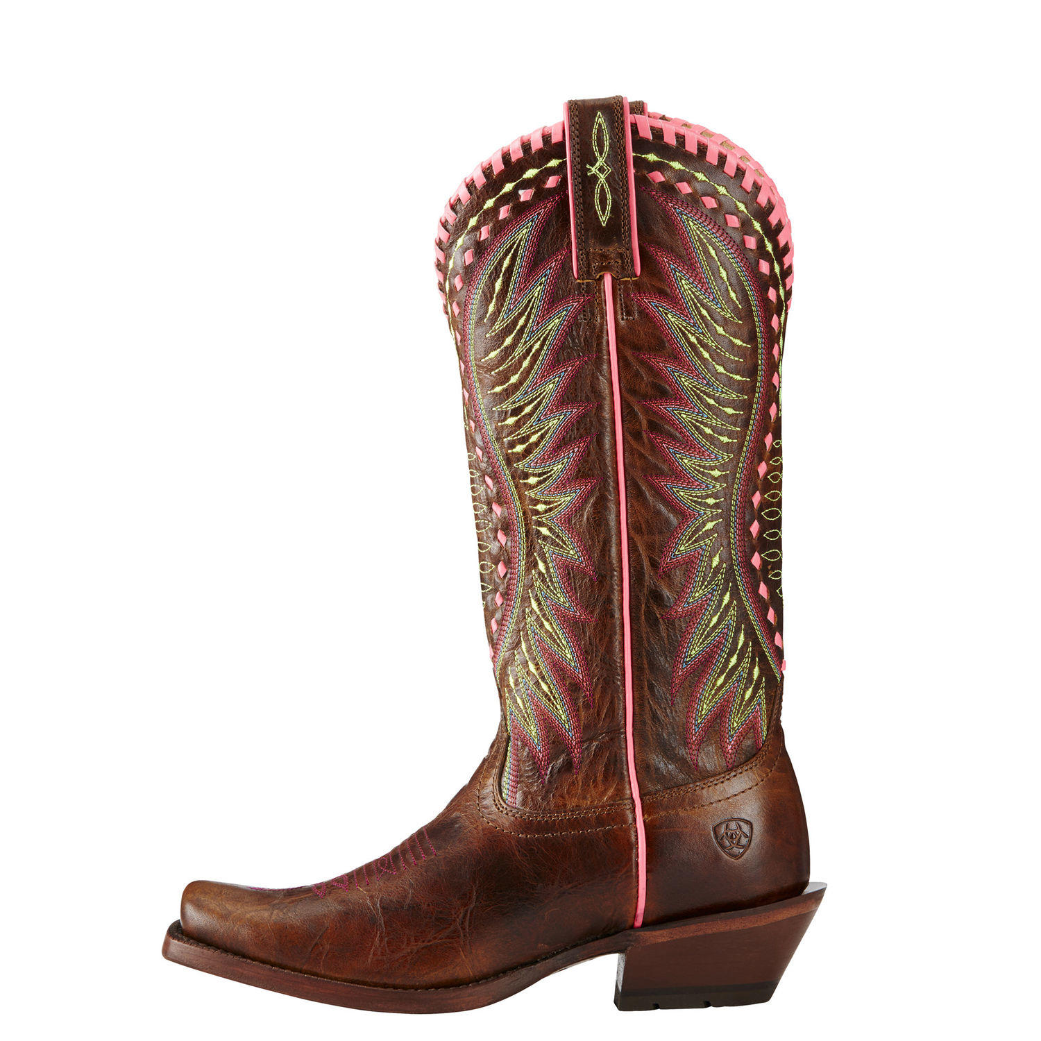 Ladies western riding fashion boot Derby STYLE # 10019936 side view