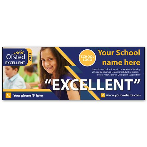 Ofsted school PVC banner