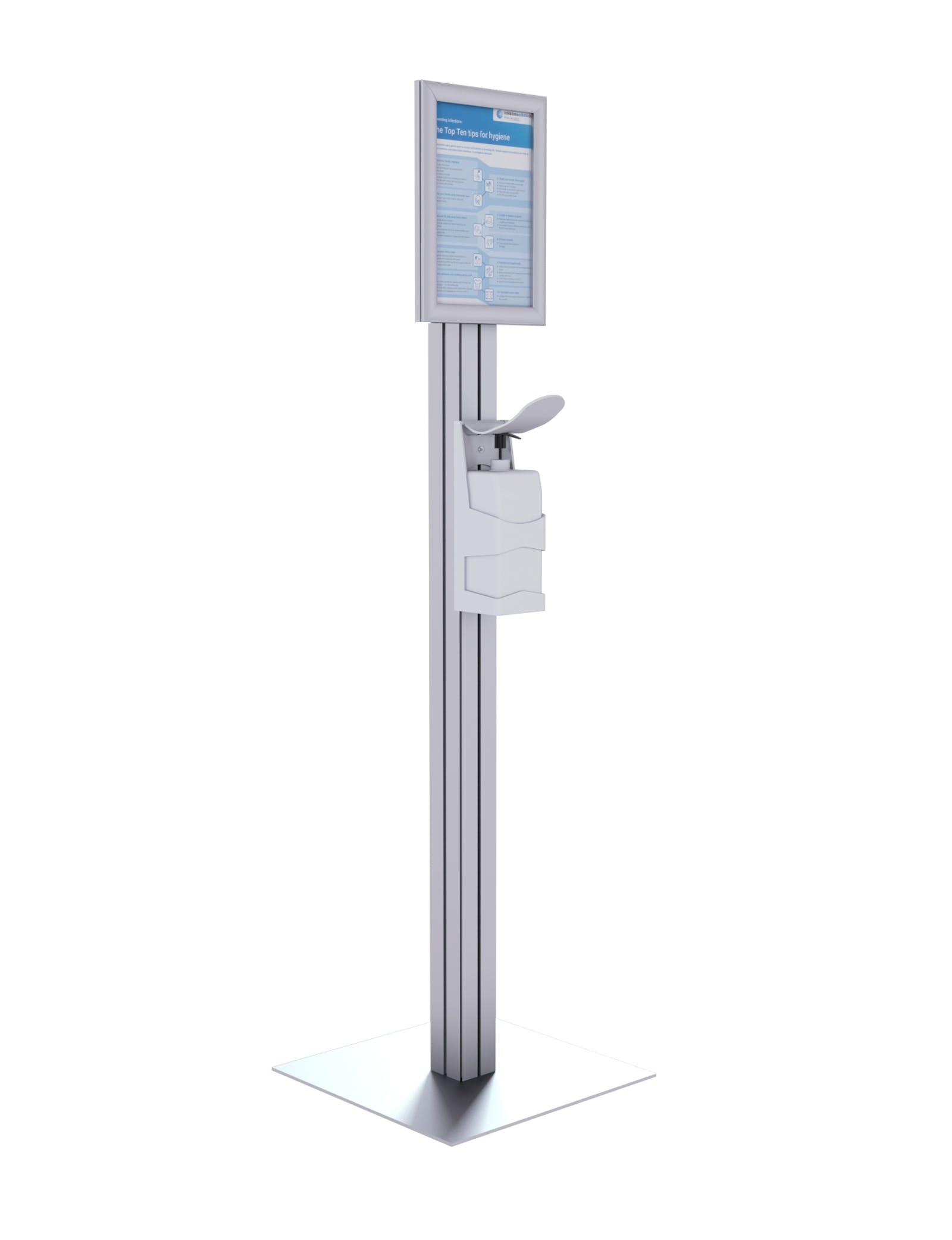 freestanding hand sanitiser unit