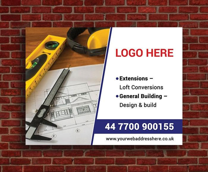 predesigned builders site board