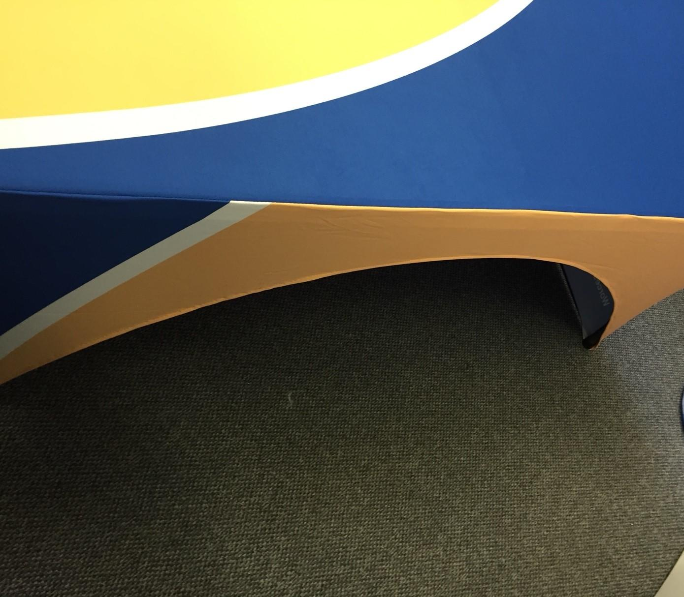 rear of open table cover