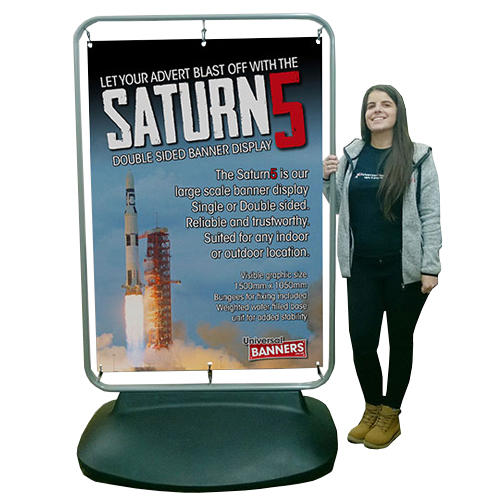 Saturn 5 Outdoor Banner Display With 5ft 4 Scale Figure