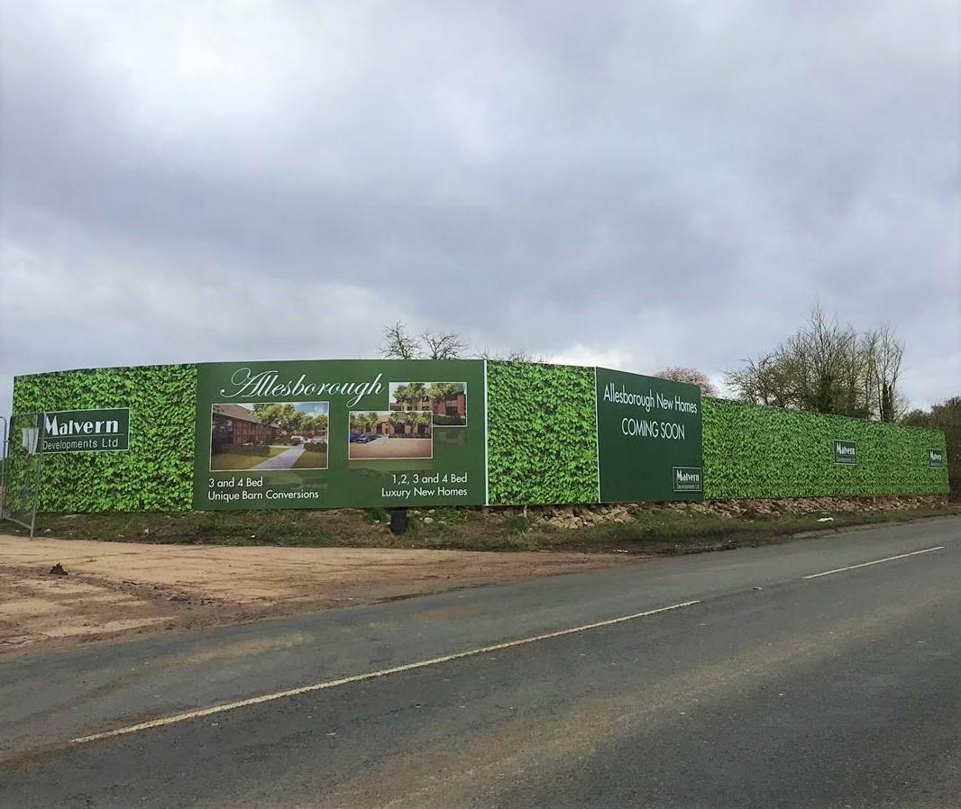 large custom printed hoarding panels