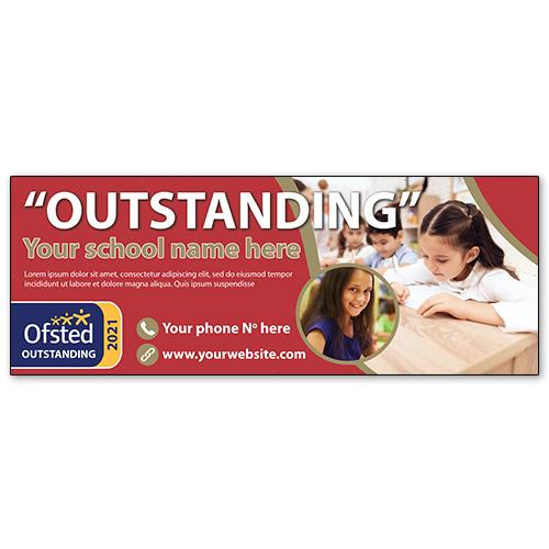 oustanding ofsted school banner