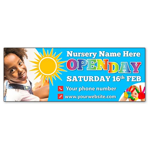 Nursery open day banner
