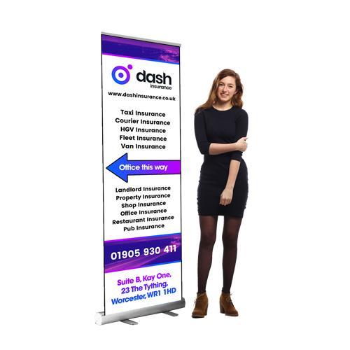 600mm roller banner stand
