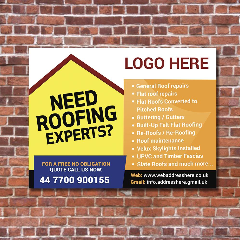 trade Roofing printed boards