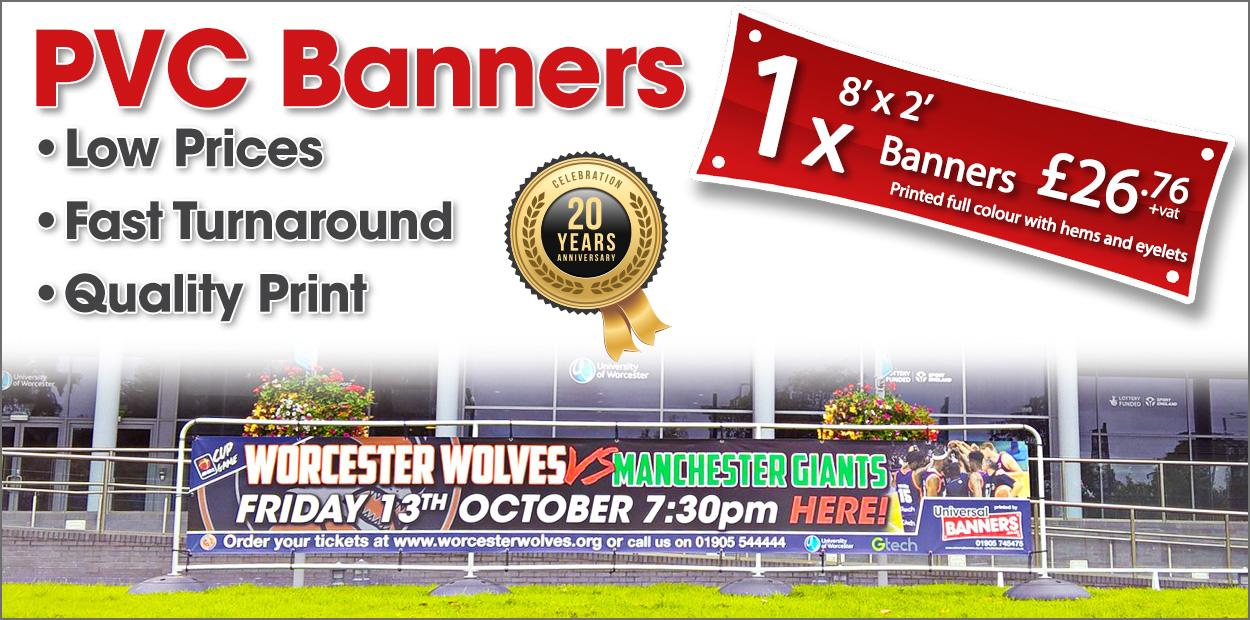Universal Banners - Low Cost & Fast Turnaround PVC Banners