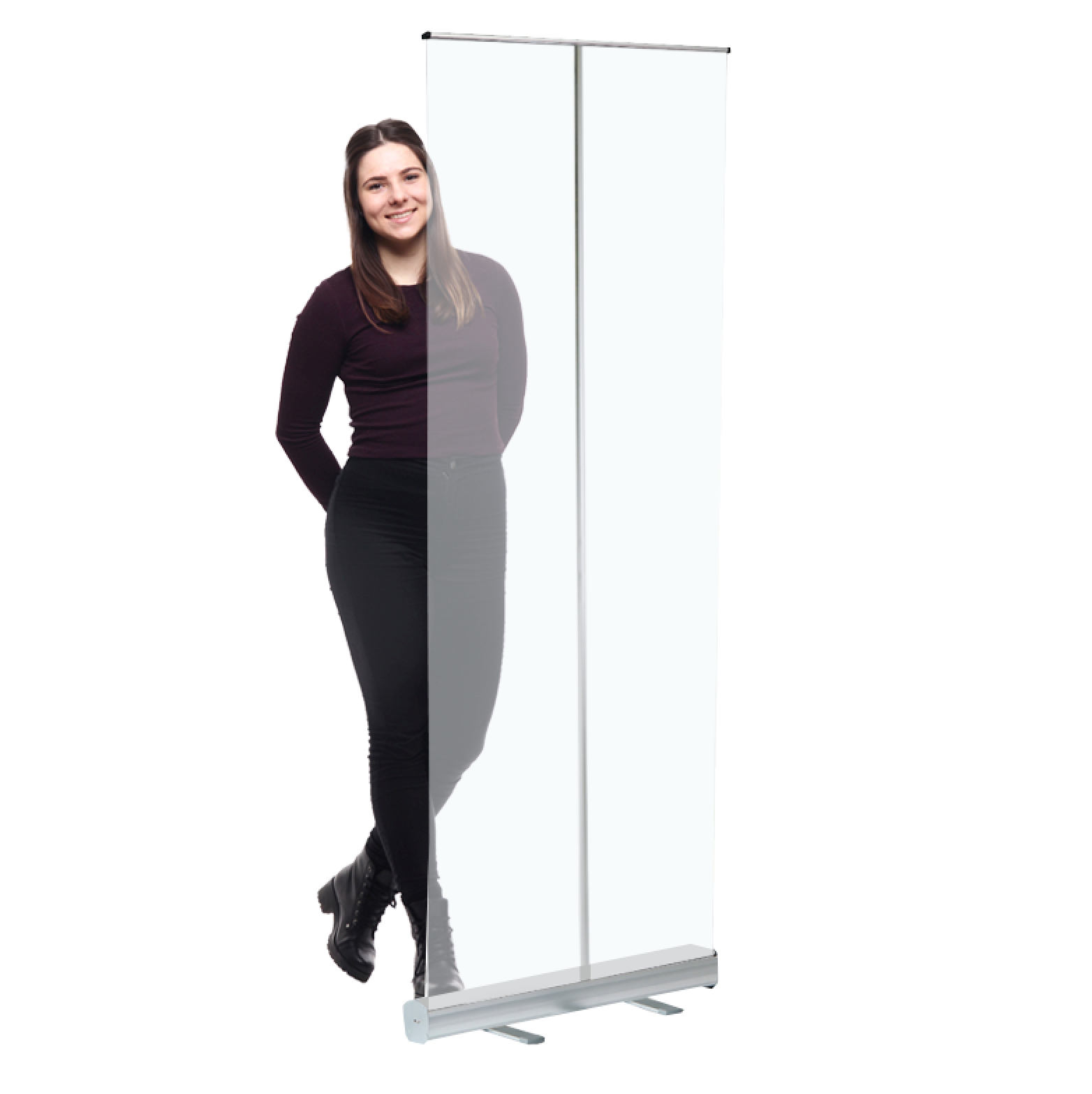 clear roller banner screen
