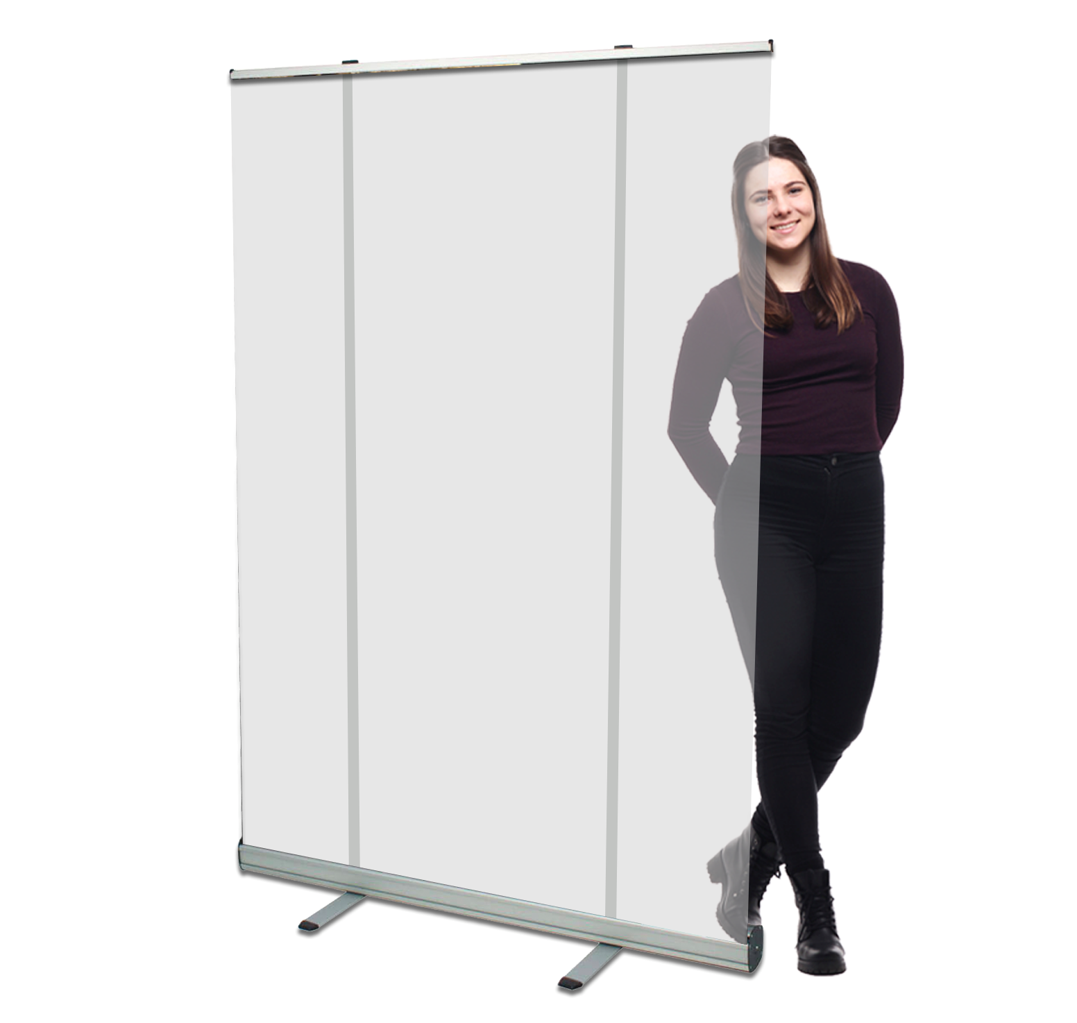 cheap large clear screen pull up