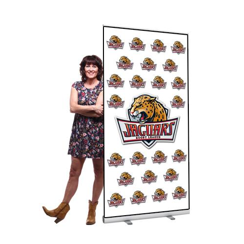 large pull up banner stand