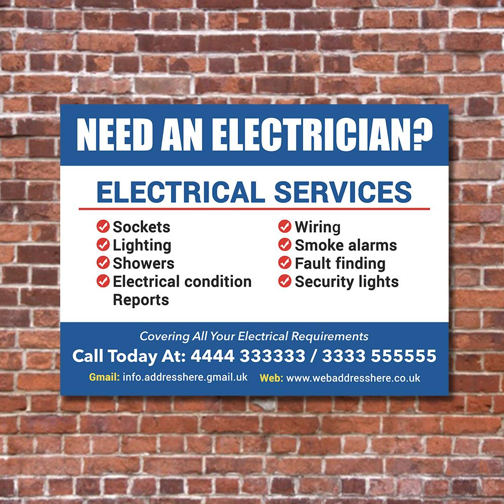 electrician correx printed site board