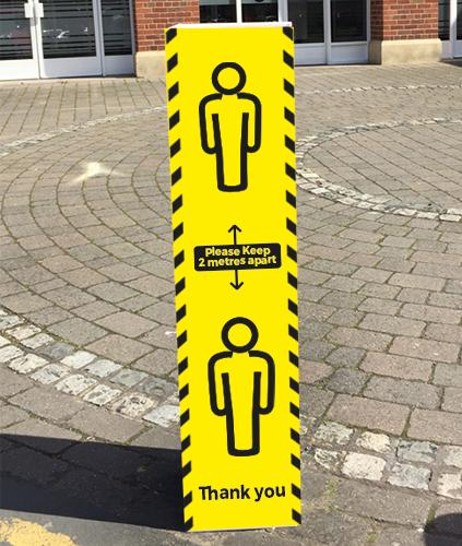 social distancing bollard covers