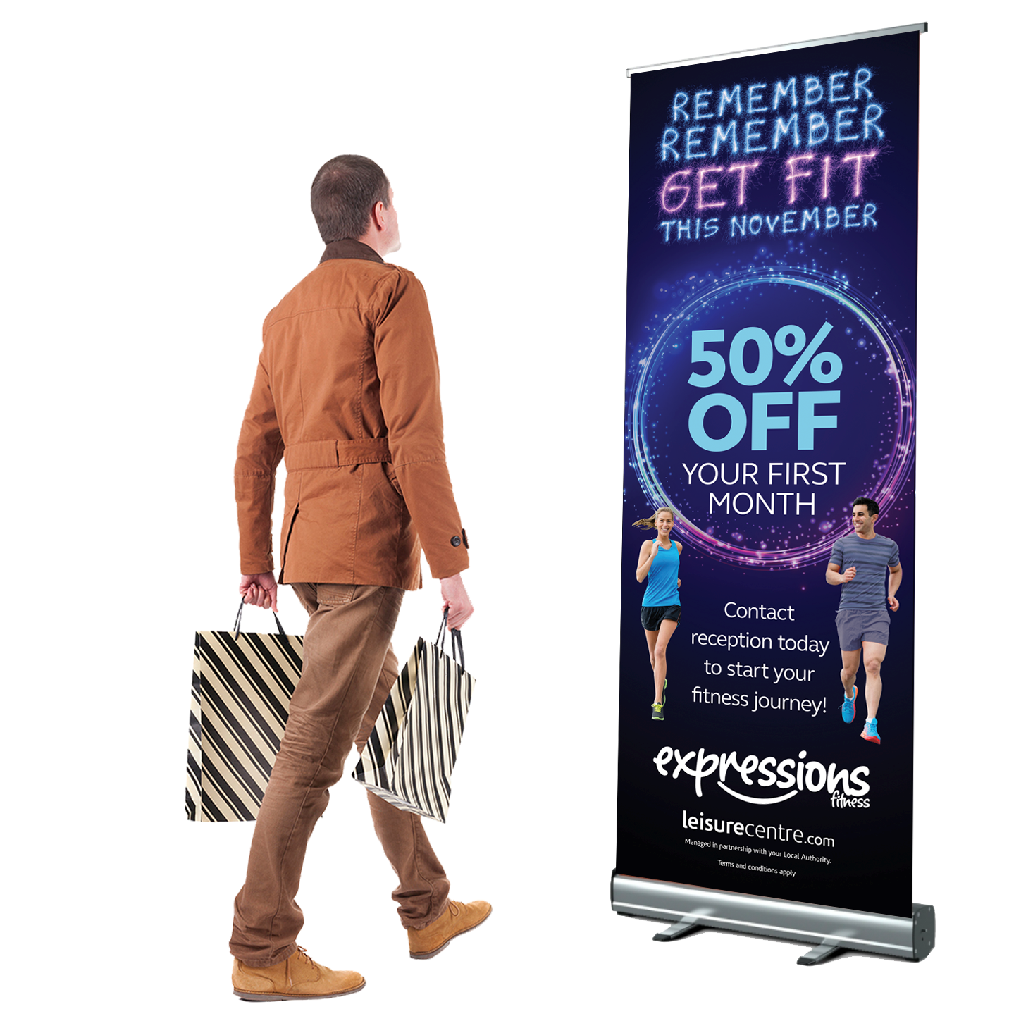printed pull up roller banner