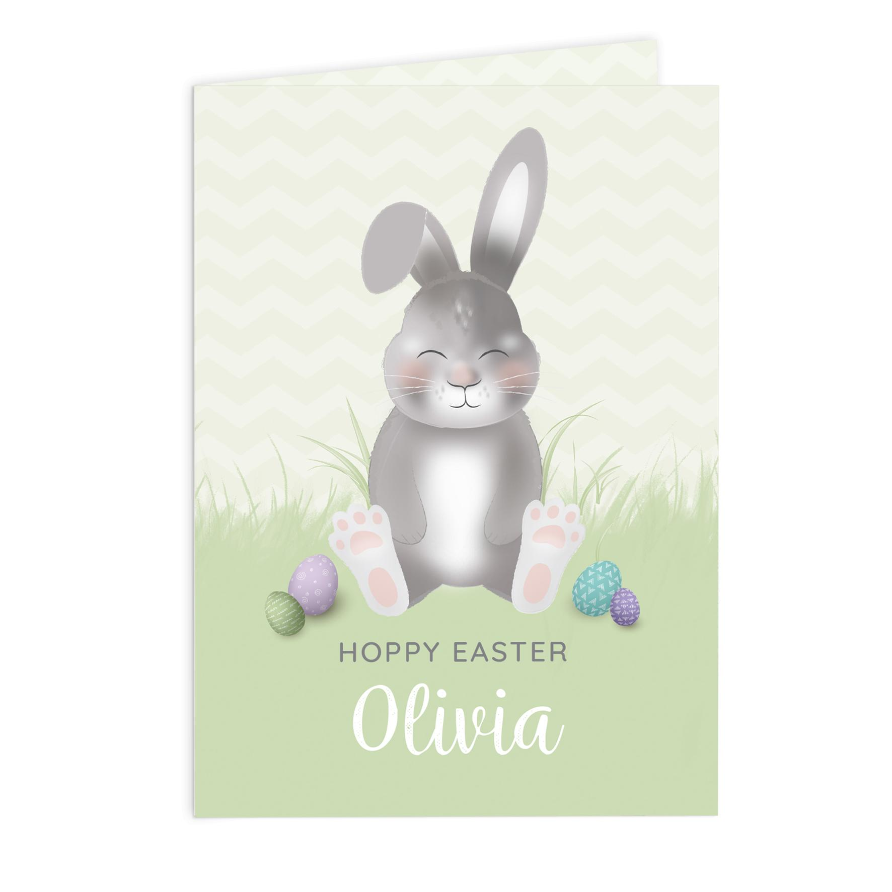 bespoke easter bunny card