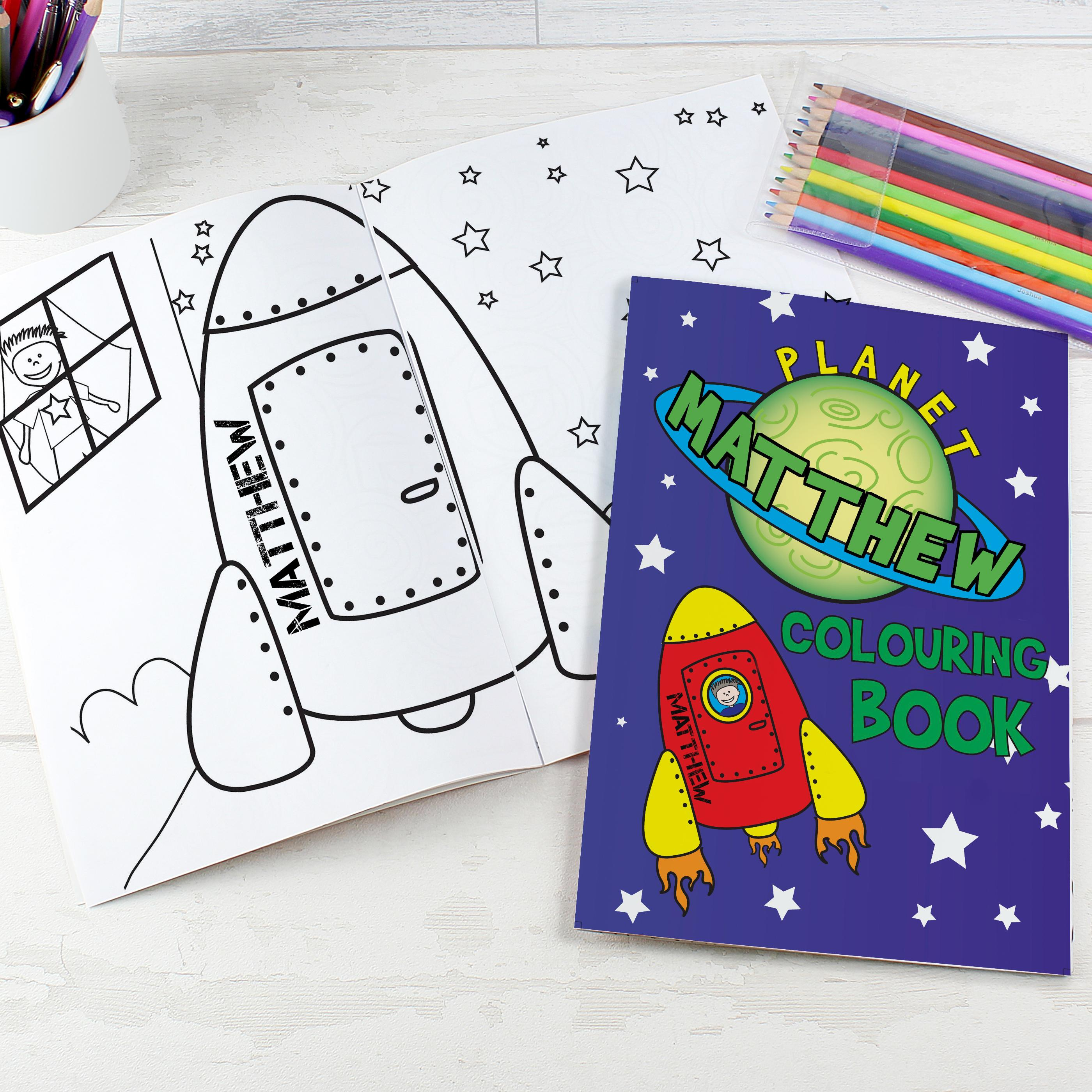 space themed colouring book