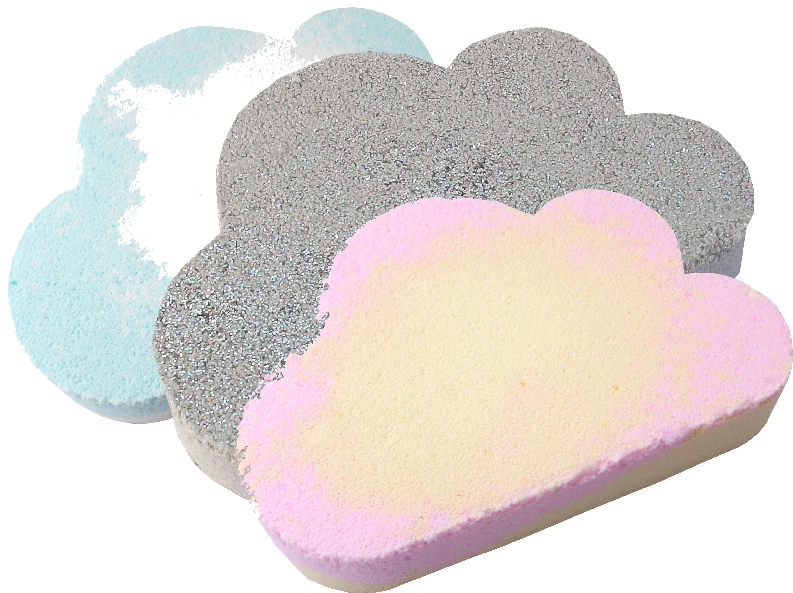 Cloud bath bombs