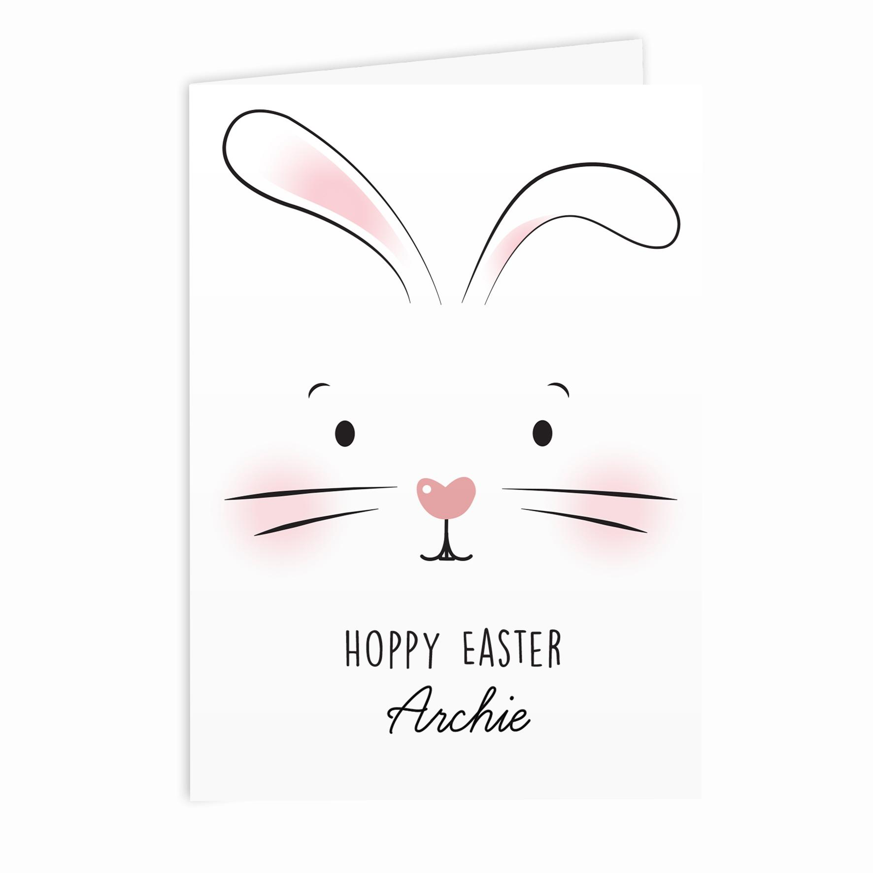 easter bunny face card