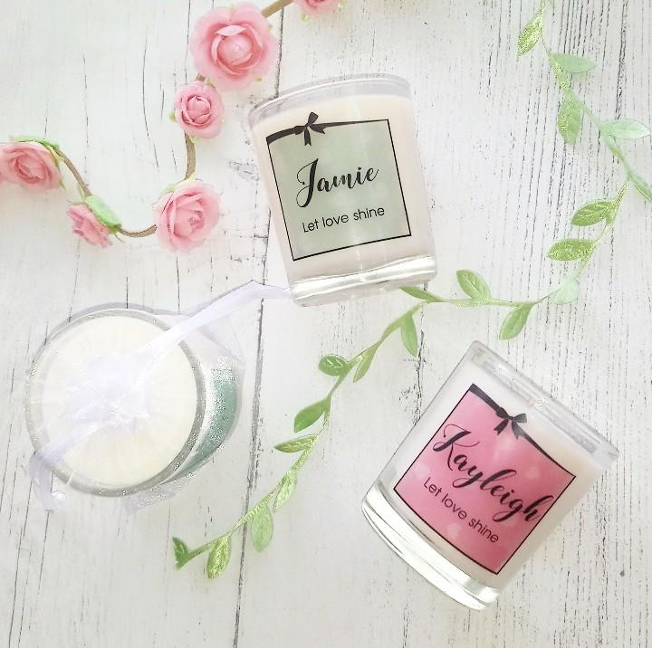 Wedding candle favours