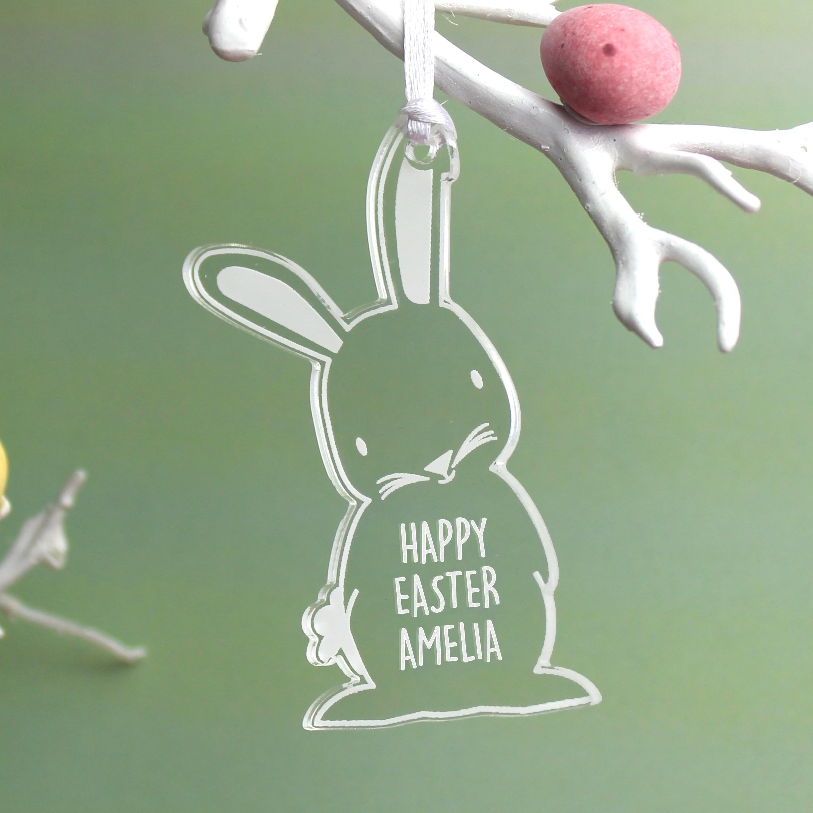 Personalised Easter Bunny Tree Decoration