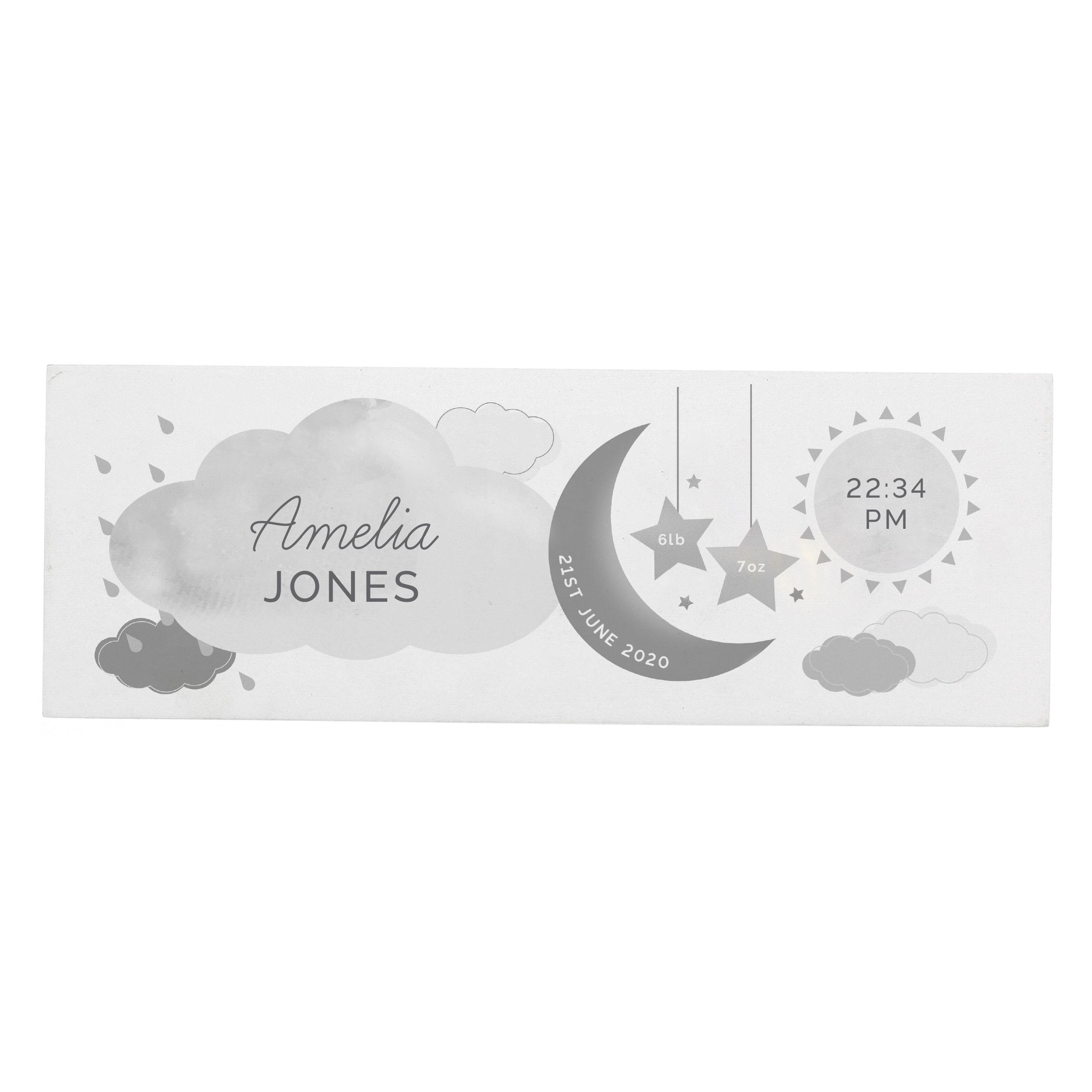 personalised new baby nursery sign