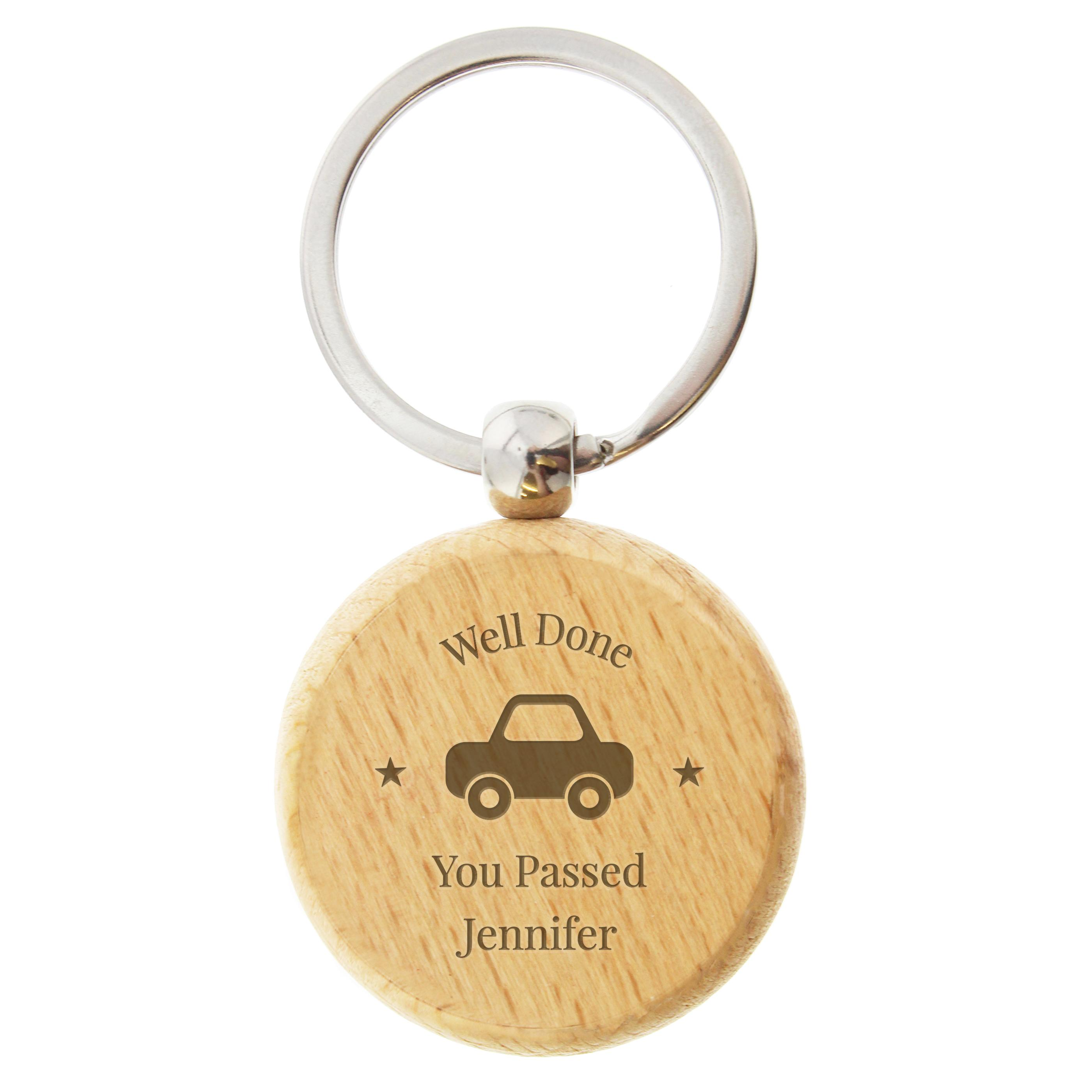 personalised taxi keyring