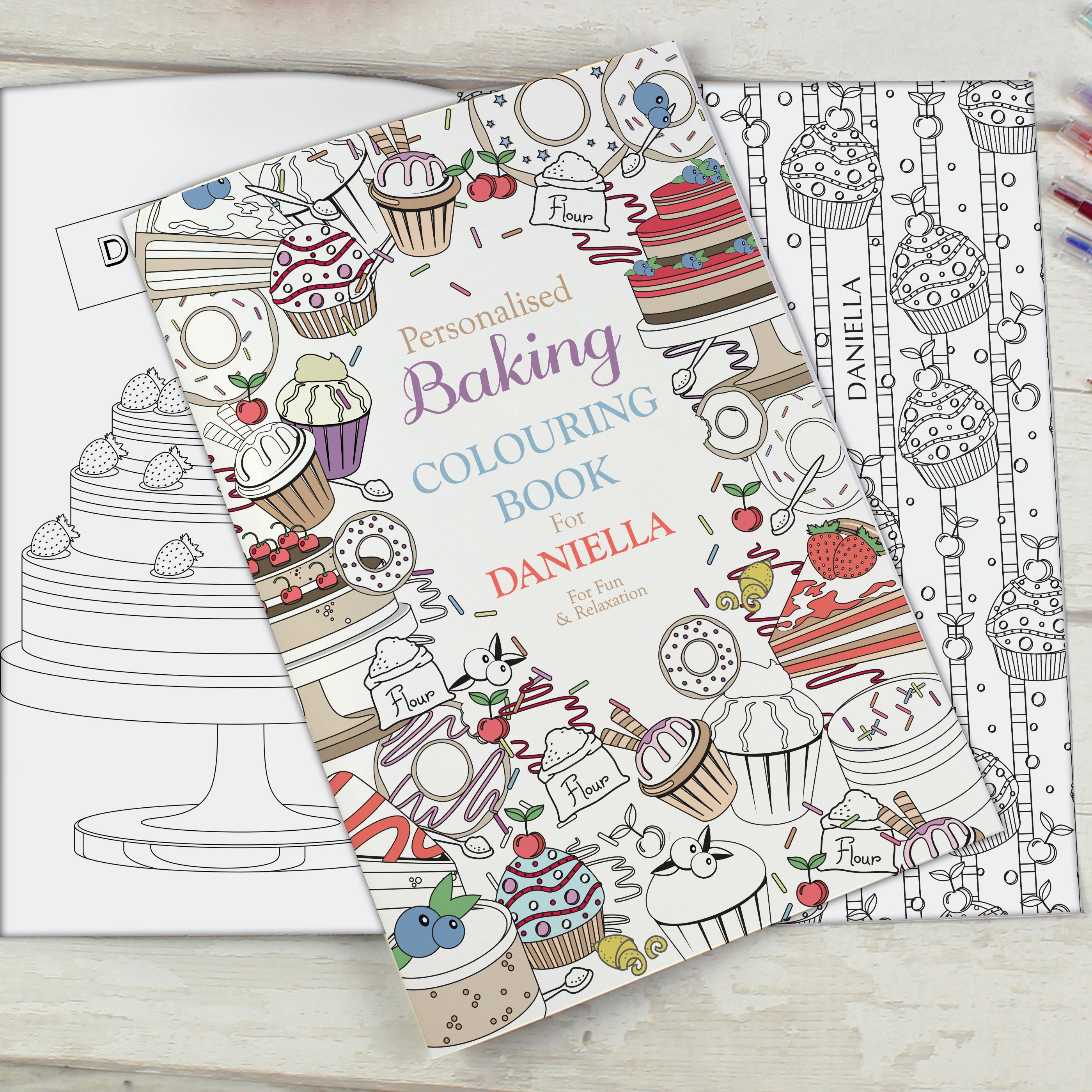 adult baking colouring book