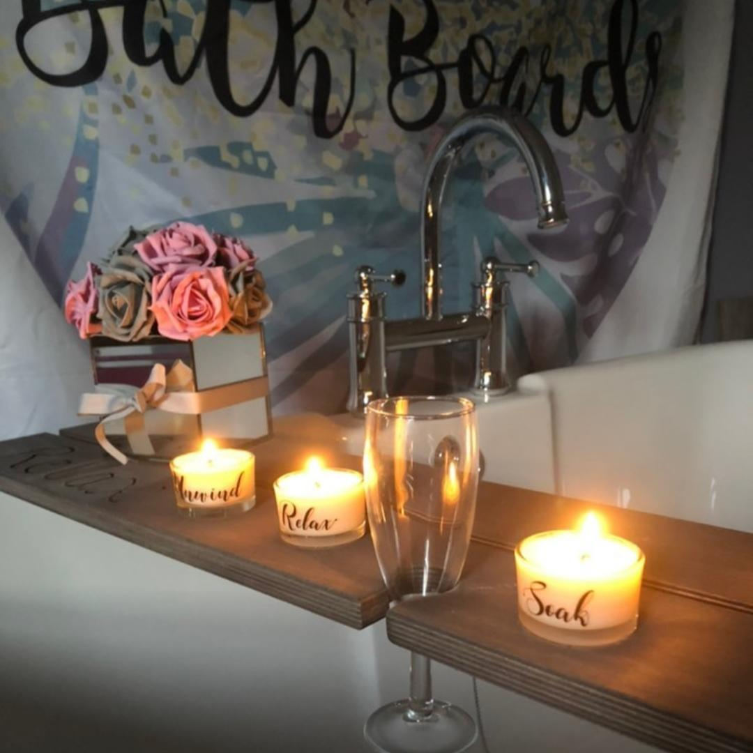 Bathboards tealights