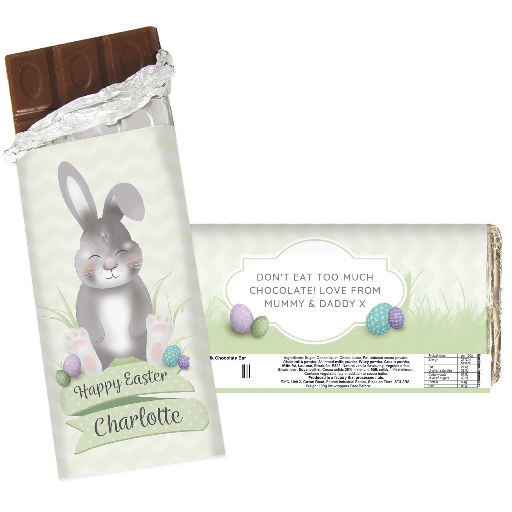 sleeping easter bunny chocolate