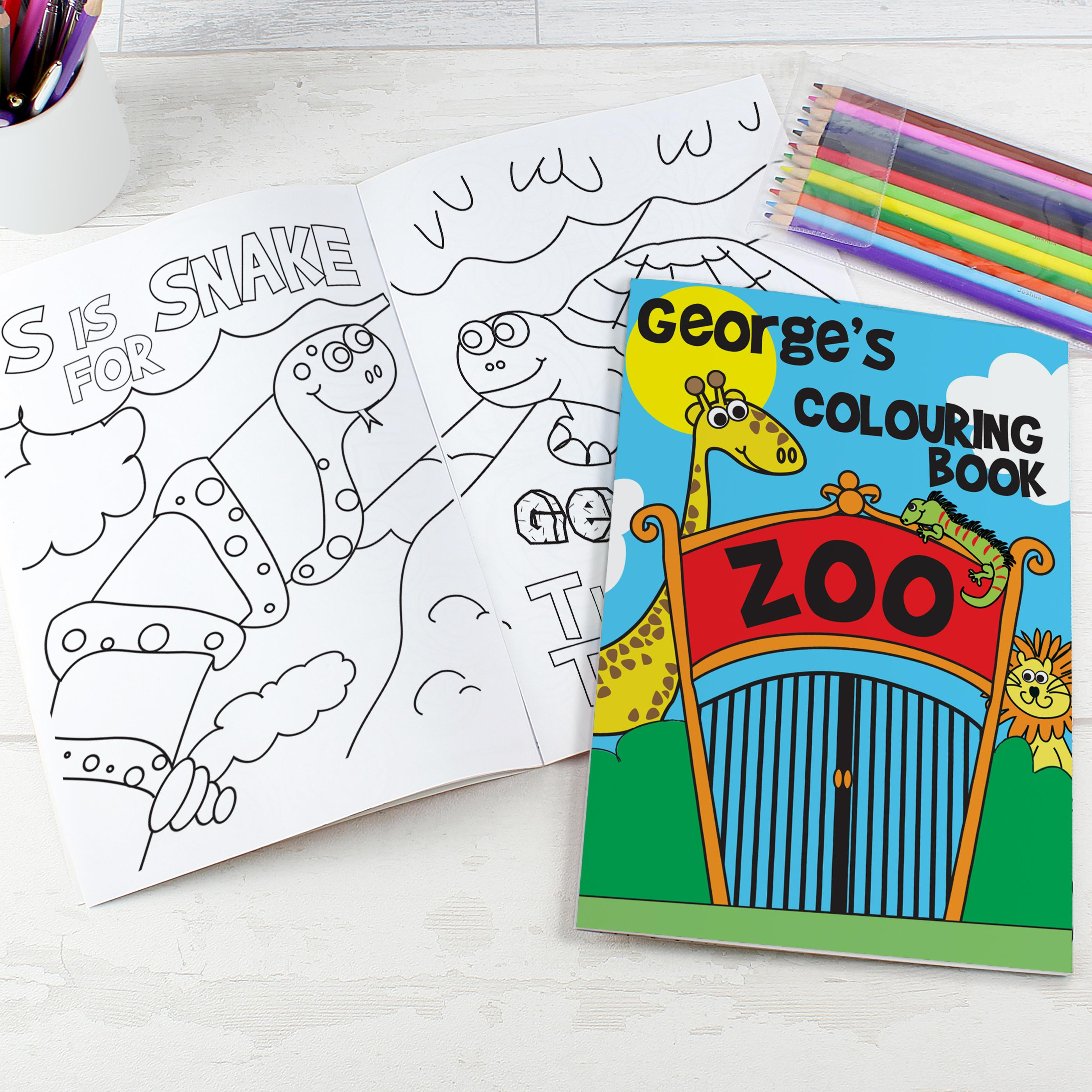 zoo themed colouring book