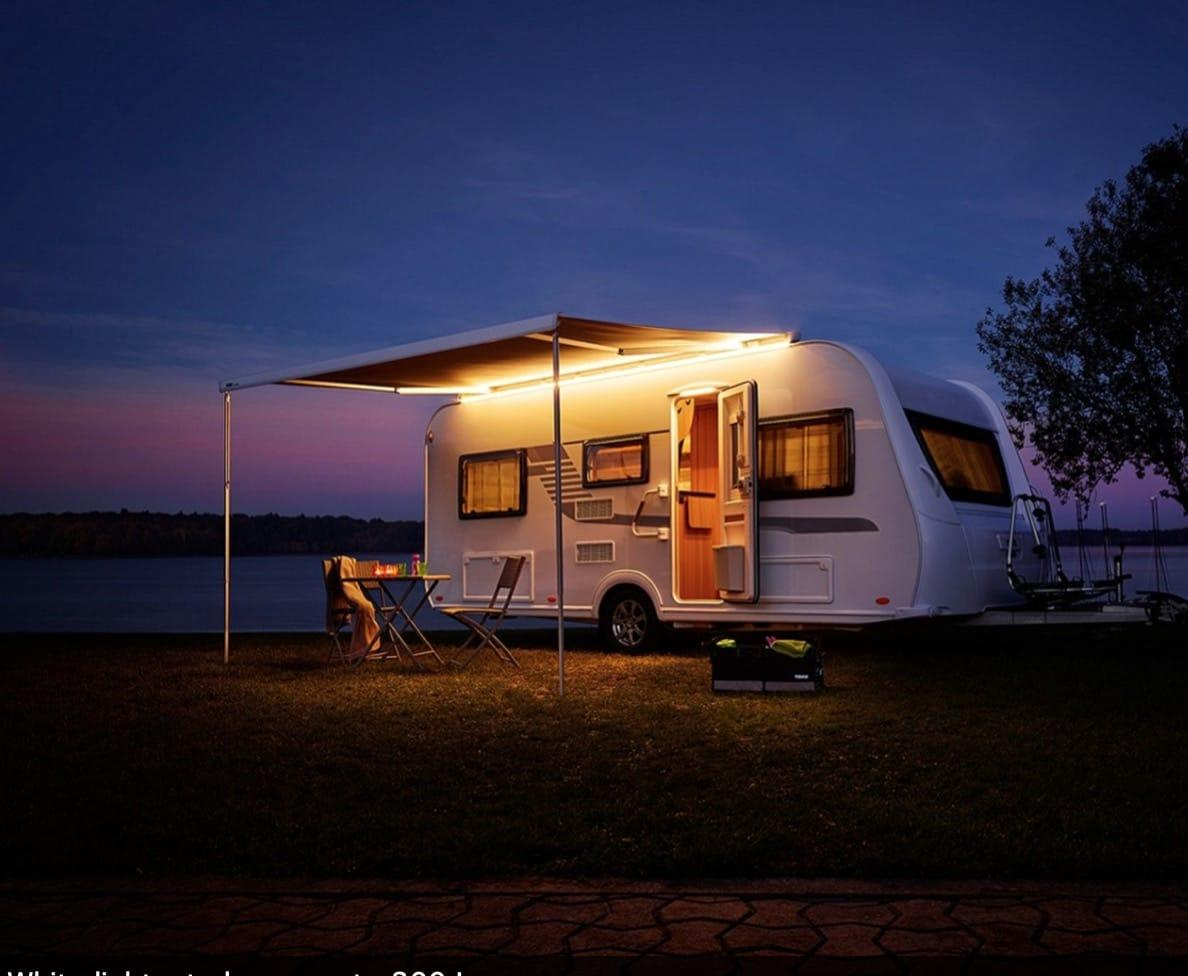 Caravan Lit by LED