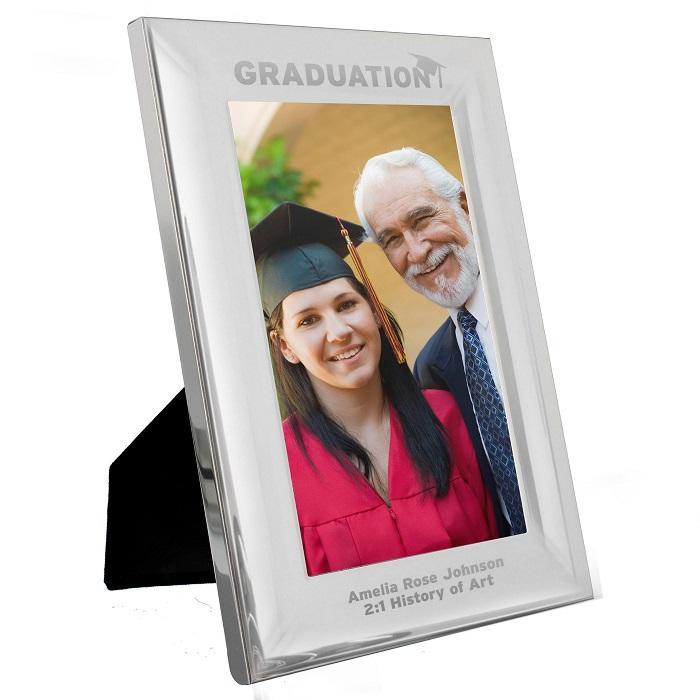 Personalised 4x6 Silver Aluminium Frame Graduation Design