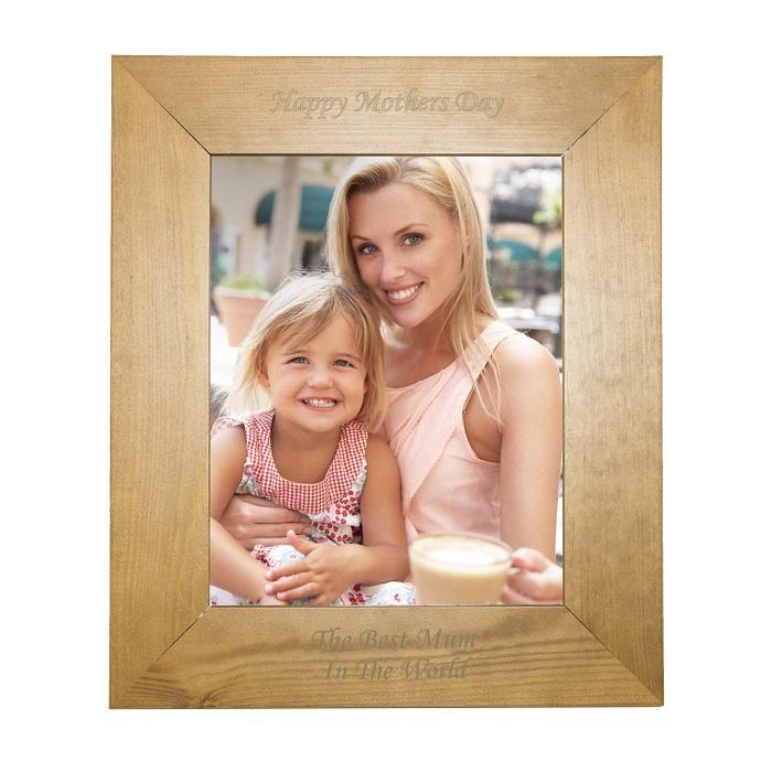 Personalised 8x10 Photo Frame Wood