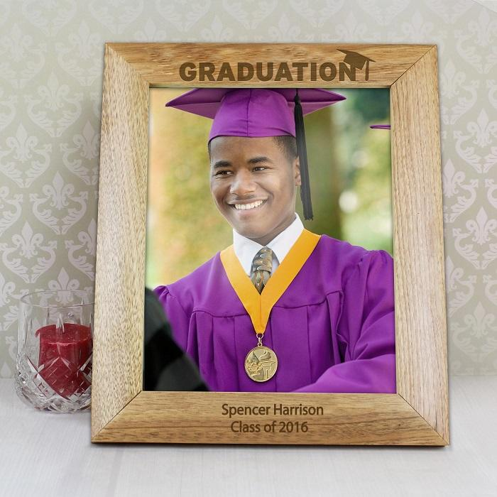Personalised 8x10 Wooden Graduation Frame