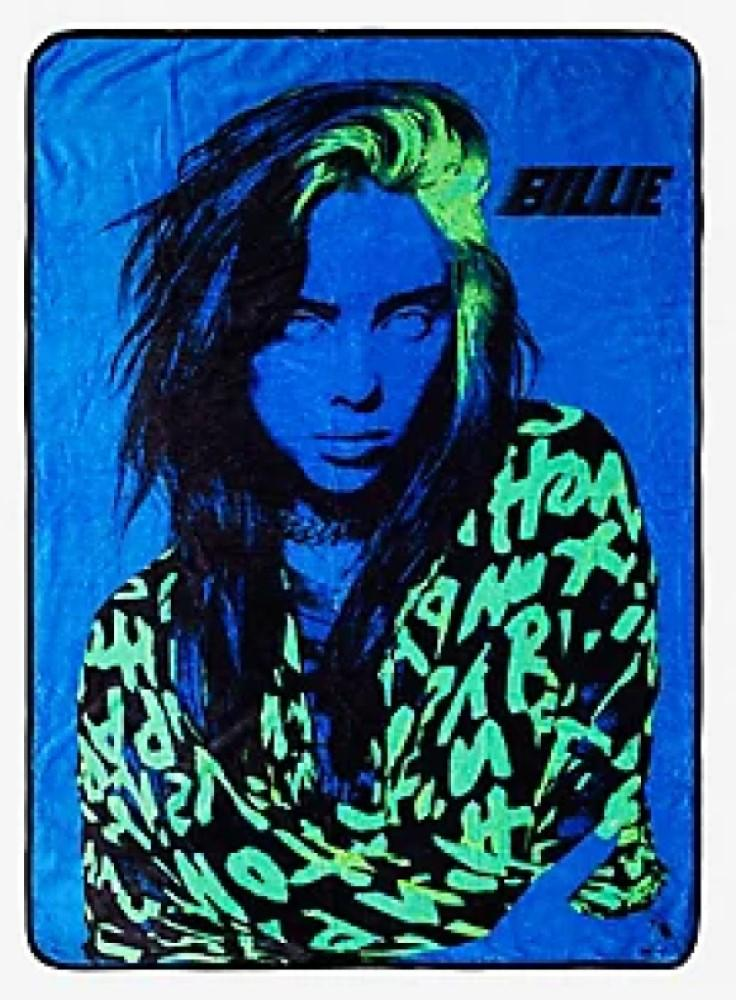 Just Funky Billie Eilish Fleece Blanket
